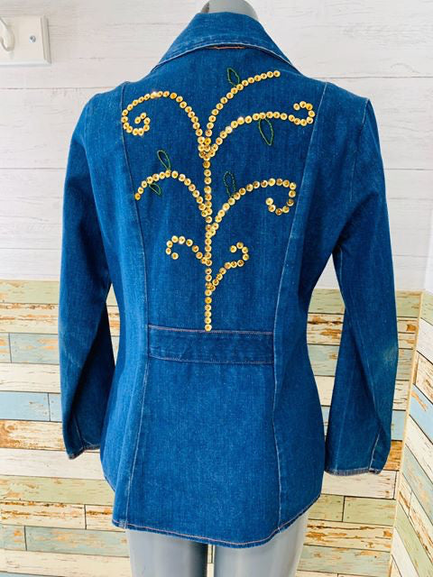 70s Wrangler Denim Blazer with application