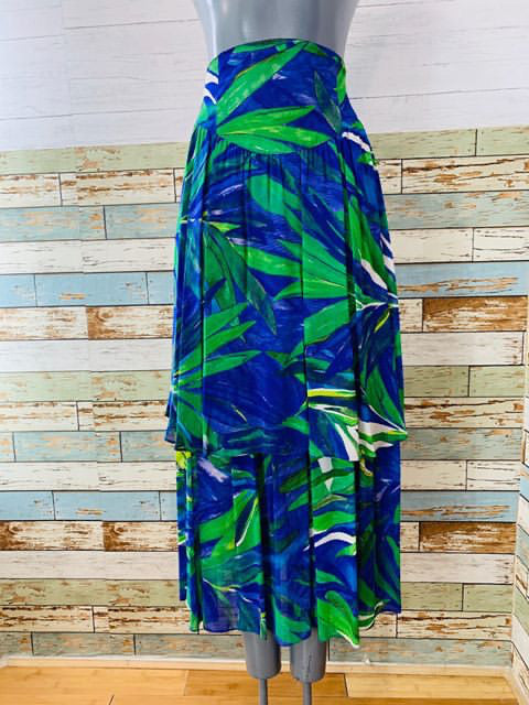 90s - Double Layer Skirt Tropical Print - Hamlets Vintage