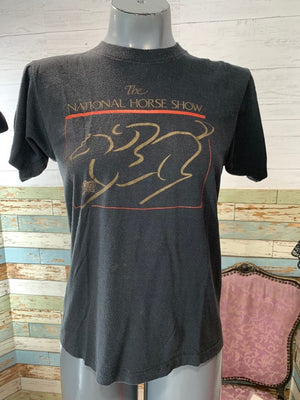 80s National Horse Show T-shirt Size Small - Hamlets Vintage