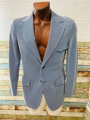 70s The Court Pinstriped Blazer