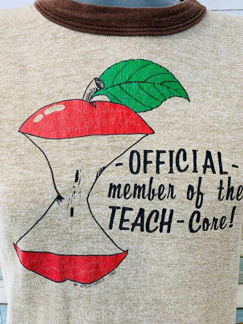 80's - Official Member of the Teach-Core T-shirt - Hamlets Vintage