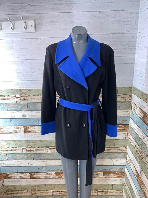 00s - Double Breasted Color Block Jacket  By International Concepts
