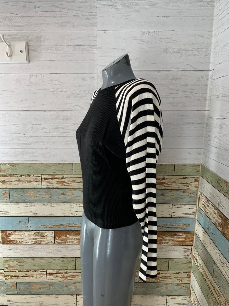 90s Knit Stripe Sleeve Sweater  By Arista