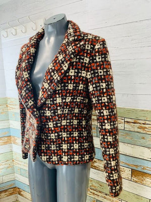 00s Multicolor Knit wool Blazer