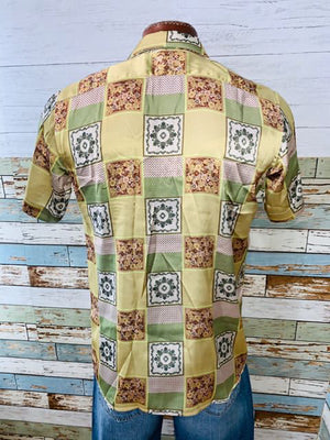 Varsos & Co. - Patch Print Short Sleeve Shirt - Hamlets Vintage