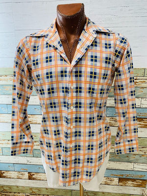 70s Arrow Casual Wear long Sleeve Shirt - Hamlets Vintage