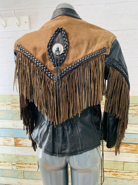 80s Fringe Leather Jacket By  Hudson Leather