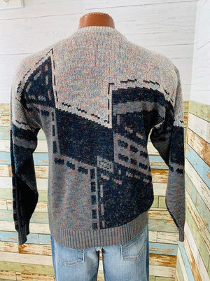 80s crew Neck Print Sweater By London Fog