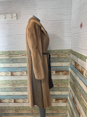 70s Mink & Leather Coat