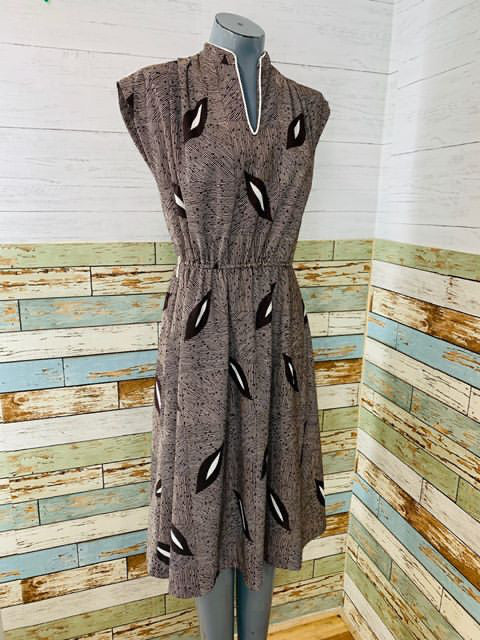 70's - Lady Page / Susan Page Patterned Dress - Hamlets Vintage