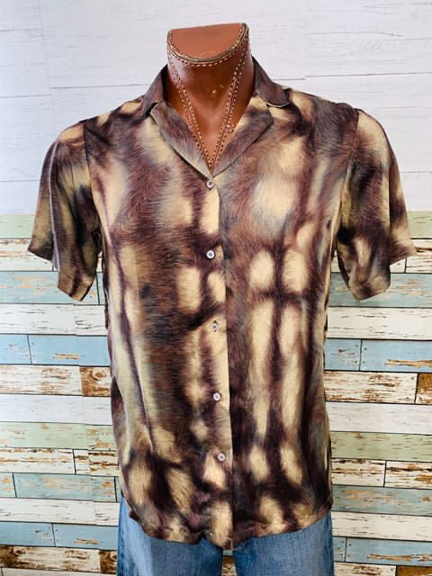 Varsos & Co. - Abstract Print Short Sleeve Shirt - Hamlets Vintage
