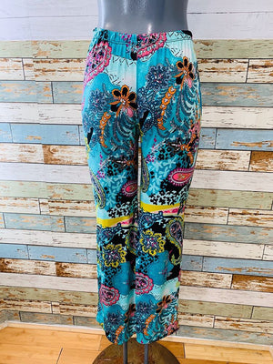 90s Parsley's Print Pants Bellbottoms Style - Hamlets Vintage