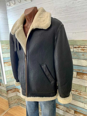 90s Aviation Air Force Jacket Leather & Sheepskin