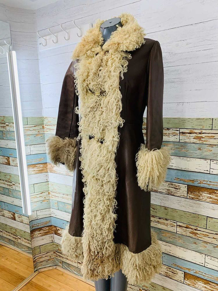 70s Leather With Fur  Penny Lane Style
