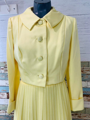 60s - Dress Set With Crop Jacket By Jack Bryan