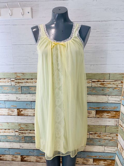 50s sheer Double layer and lace Nightgown