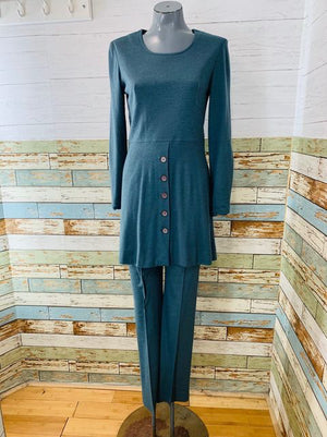 70s Pant & long Sleeve Knit Tunic 2 Piece Set By Clobber Of London