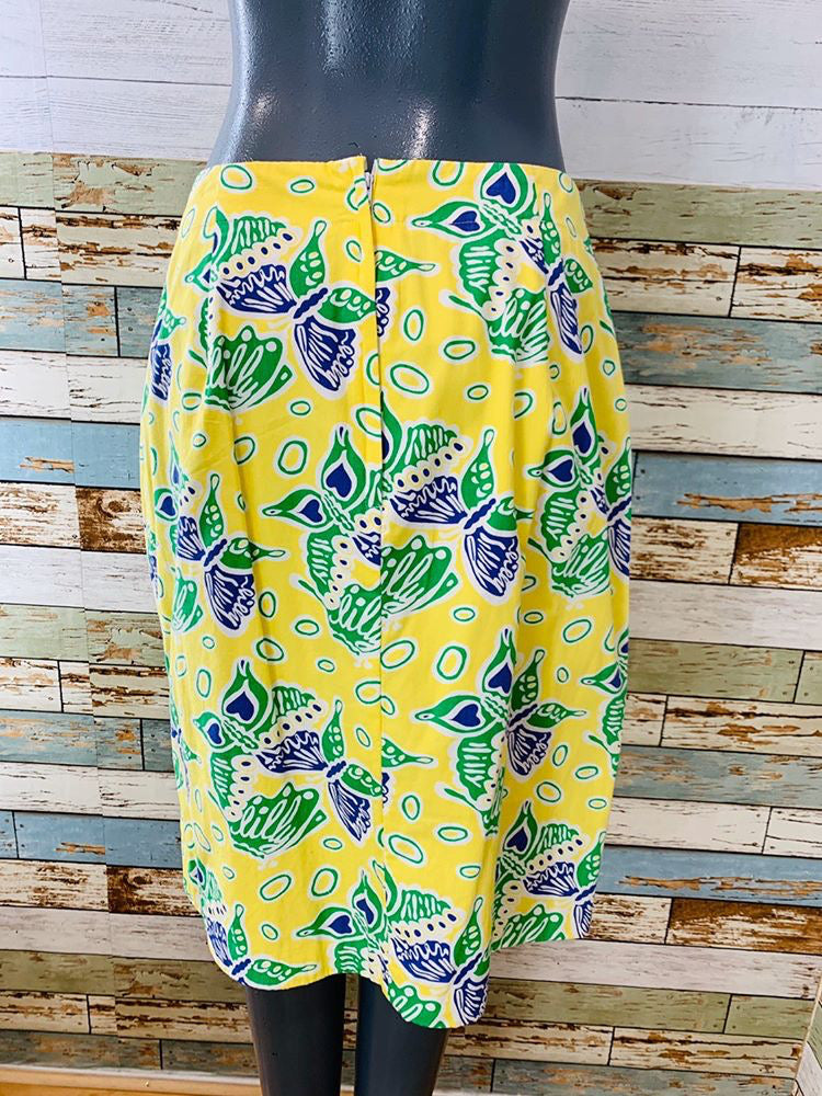 90s - Butterflies By Lilly Pulitzer | Skirt - Hamlets Vintage