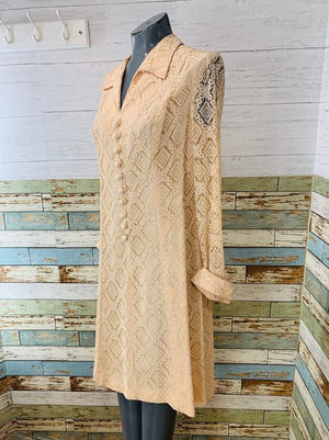 60s Long Sleeve Lace Dress