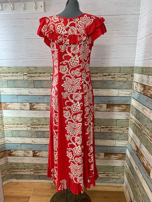 60's - Maxi Hawaiian Dress