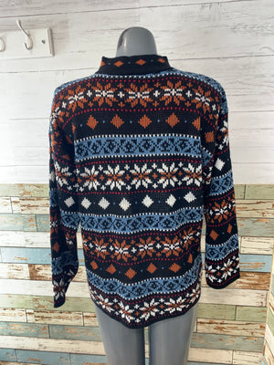 80's Holiday Mock Neck Sweater