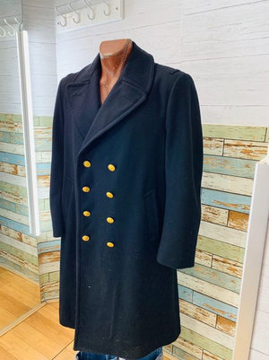 90s Officer Wool OverCoat  By Neptune Garment Co