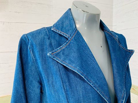 70s Wrangler Denim Blazer with application - Hamlets Vintage