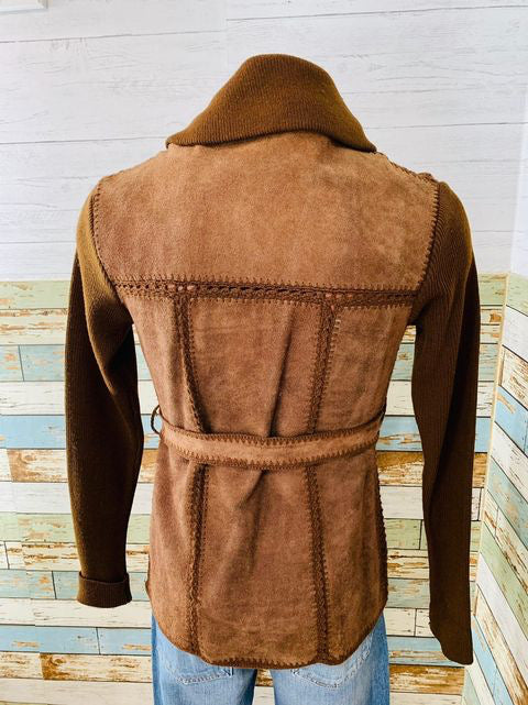 70s - Suede & Knit Pull Jacket  By Bambergers Men's store