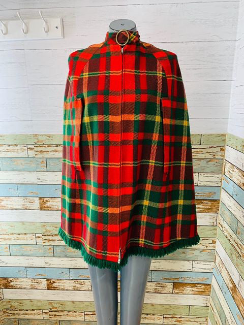 70s - Tartan Cape  By Four Corners