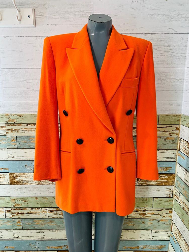 90's - Orange Blazer By Escada - Hamlets Vintage