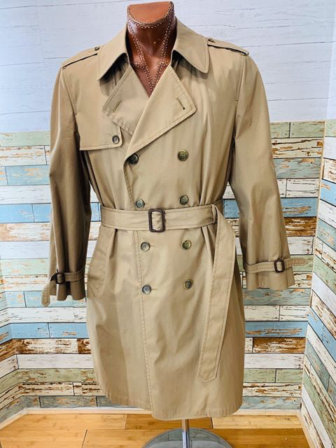 80s London Fog Maincoats Khaki Trench Coat - Hamlets Vintage