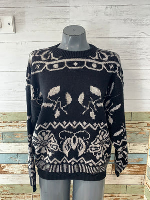 80's Crew Neck Holiday Sweater