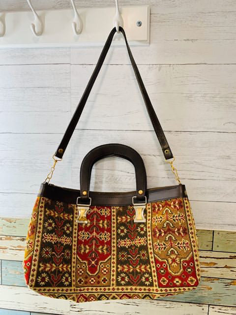 70s Tapestry Bag with Removable Strap
