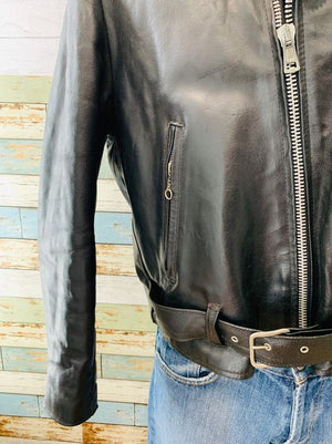 70s - Biker Jacket with Back Patch  By Excelled it Sales