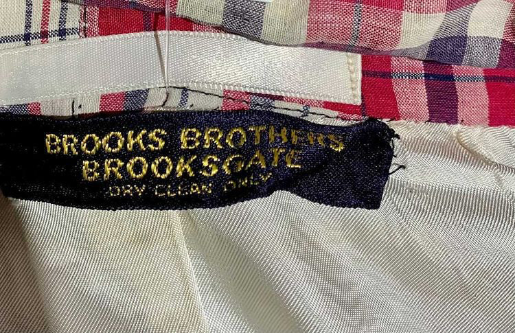 70s Multicolor Cotton Patch print Blazer By Brooks Brothers