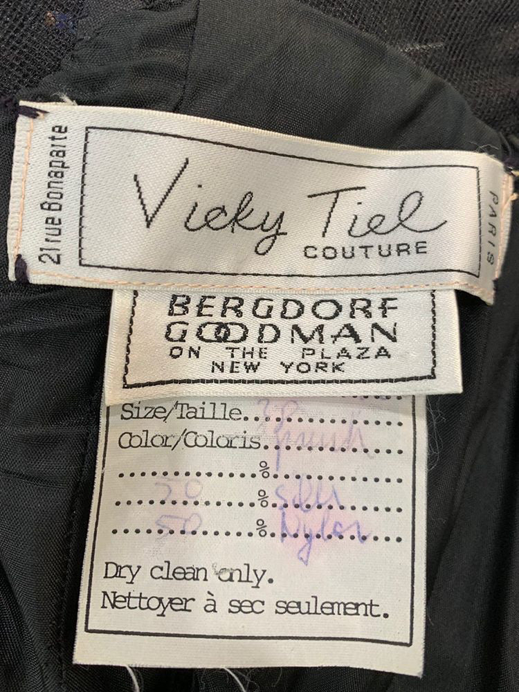 80s -  Strapless Party Dress  By Vicky Tiel  For Bergdorf Goodman New York