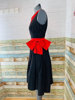 70s - One Shoulder Dress With Belt Bow  By Nancy Bracoloni