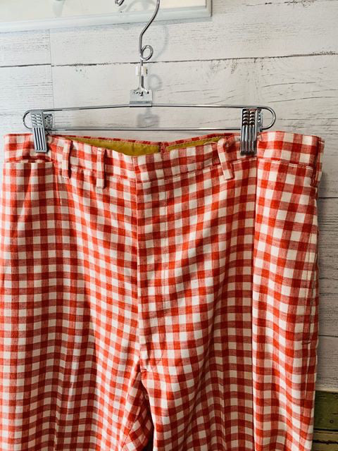70s Checker Pants - Hamlets Vintage