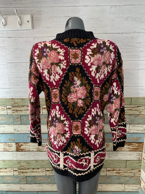 90s Long Sleeve Embroiled Knit Sweater