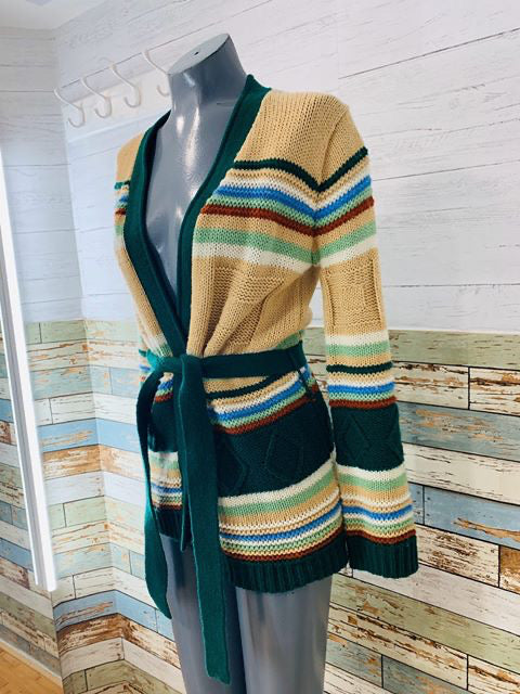 70s striped knit Cardigan - Hamlets Vintage