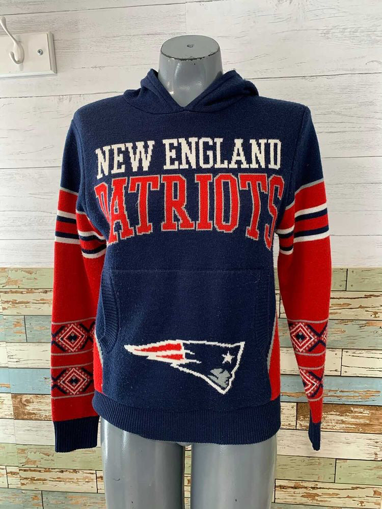 90s New England Patriots Hooded Sweater  By NFL Team Apparel