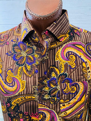 Varsos & Co. - Baroque Print | Button Up Long Sleeve Shirt
