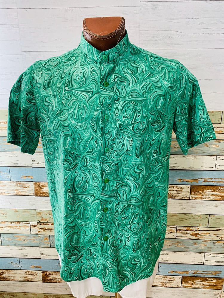 Paco Roca - Abstract Print | Short Sleeve Shirt - Hamlets Vintage