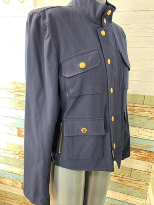 00s - Zip Short jacket With Gold Buttons By Ralph Lauren
