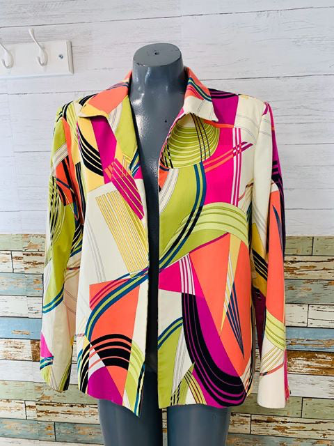 90s Multicolor abstract Jacket - Hamlets Vintage