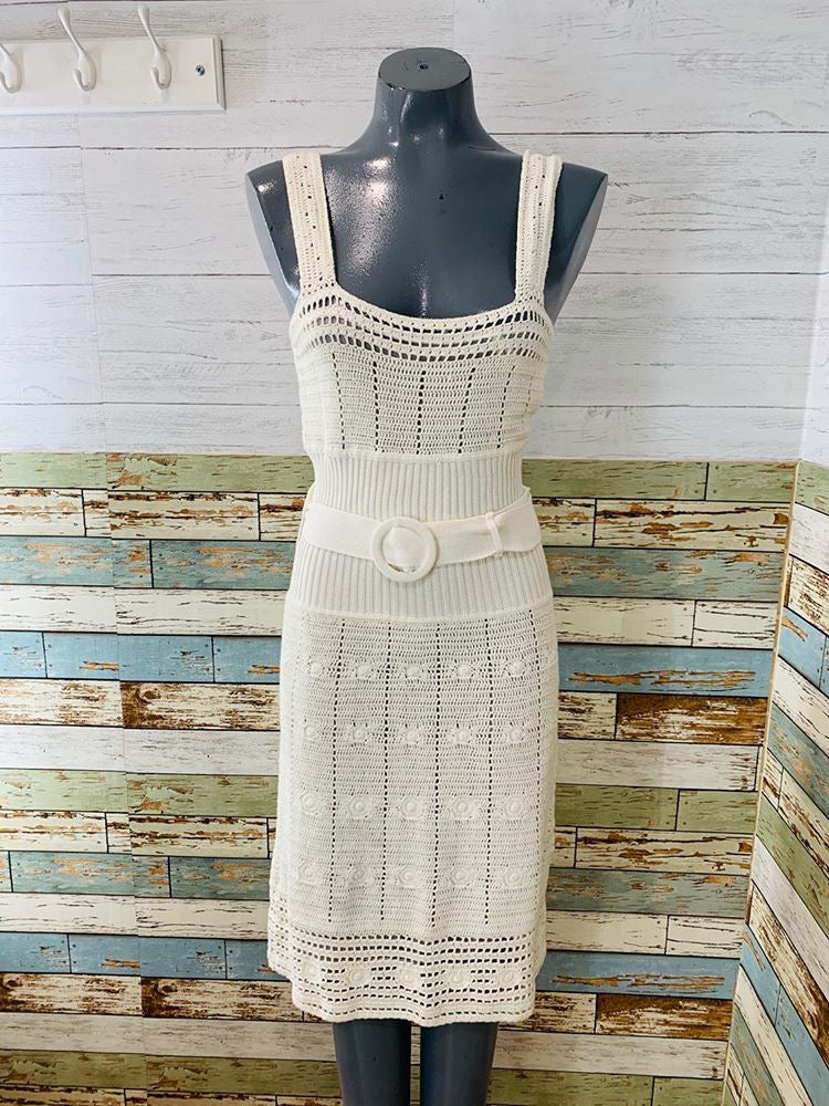 00s Crochet With Lining Dress
