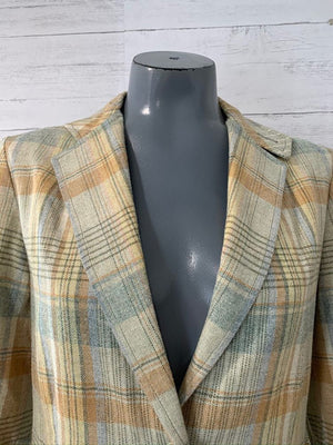 70s - Tartan Wool Blazer  By Bobbie Brooks