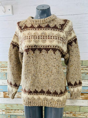 80s Multicolor Wool Knit Sweater By Saks Fifth Avenue