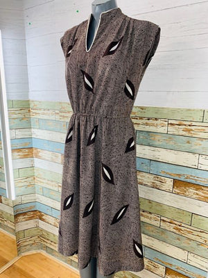 70's - Lady Page / Susan Page Patterned Dress