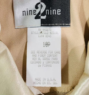 90s Pants & Button Crop Jacket  Two Piece Set  By Nine 2 Nine  Tag Size 10p